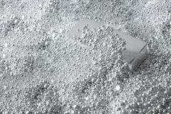 background made of Silver ingot in pieces of silver royalty free stock image