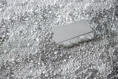 Silver brick in pieces of silver royalty free stock photos