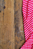 The background made from tablecloth on old  table Royalty Free Stock Photos