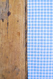The background made from tablecloth on old  table Royalty Free Stock Images