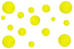 Background made of tennis balls on white Royalty Free Stock Image