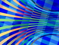 Abstract background composed of curved and angular lines. The background is made up of angular lines in a mixture of cold colors - this is the basis. Then follow royalty free illustration