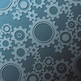 Background made from various cogwheels Royalty Free Stock Photos