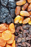 Background made of various dried fruits Royalty Free Stock Photography