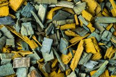 Background made of wood chips Stock Photo
