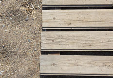Planks and sand Royalty Free Stock Image