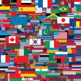 Background Made from World Flags. Vector Template Stock Image