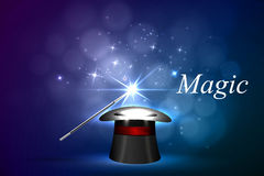 Background magical glow. Vector background magic Glov, the concept of magic Royalty Free Stock Photography