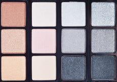 Background from makeup cosmetics close up Stock Photos