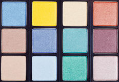 Background from makeup palette close up Stock Photography