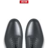 Background of Male fashion classic black shoes. Background of Male fashion classic black shoes with space for text. Vector illustration isolated on white Royalty Free Stock Photos