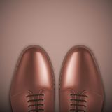 Background of Male fashion classic brown shoes. Royalty Free Stock Photos