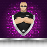 Background man security guard of nightclub Stock Photos