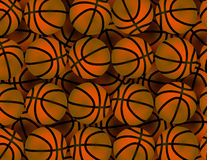 Background with many basketballs Royalty Free Stock Images