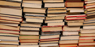 Background of many books on sale Stock Photos