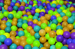 Background of many colored plastic balls in a children's pool Royalty Free Stock Photos
