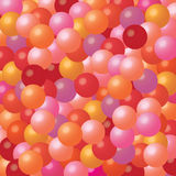 Background with many colorful balloons. Festive background with brightly colored balloons in red, orange, pink and purple Stock Photo