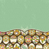 Background with many easter eggs, vector Stock Images
