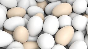 Background with many eggs Stock Photo