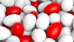 Background with many eggs Stock Images