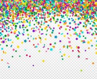 Background with many falling tiny confetti Stock Photography