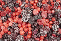 Background of many frozen berry fruits Royalty Free Stock Photo