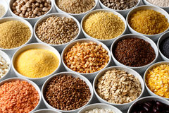 Background of many grains and pulses. Stock Images