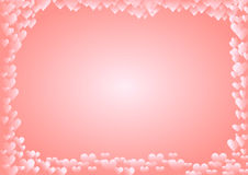 Background with many hearts around horizontal. Illustration of a Background with many hearts around horizontal royalty free illustration