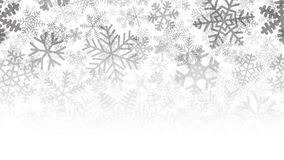 Background of many layers of snowflakes. Christmas background of many layers of snowflakes of different shapes, sizes and transparency. Gradient from black to royalty free illustration