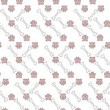 Background of many pets paw and bones. Vector illustration background of many pets paw and bones royalty free illustration