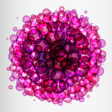 Background of many pink and purple bubbles. Stock Image