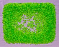 Background of many plastic green plastic beads. Royalty Free Stock Photography