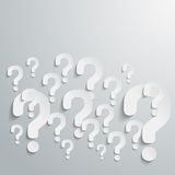 Background with many randomly question marks Royalty Free Stock Photo