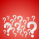 Background with many randomly question marks Royalty Free Stock Photos