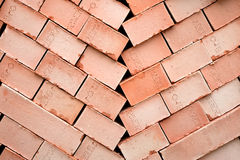 Background of many red bricks for construction Royalty Free Stock Images