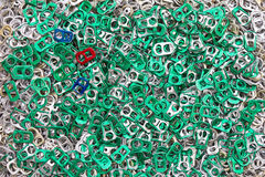 Background of many ring pull. Royalty Free Stock Images