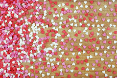 Background of many small hearts Royalty Free Stock Photo