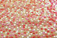 Background of many small hearts Stock Image