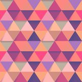 Background of many small triangles of different colors polygonal.  stock illustration