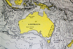Background map of Australia Royalty Free Stock Photography