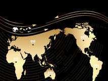 Background with map of the world vector illustration