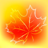 Background with maple leaf in beautiful bright autumn colors, vector illustration.  stock illustration
