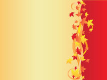 Background with maple leaves. Beautiful vector illustration Stock Photo