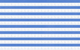 Background on marine theme with blue and white striped Royalty Free Stock Image