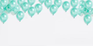 Background material covered with balloons stock image