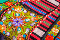 Background with material embroidered from Bistrita-Nasaud, Roman Royalty Free Stock Photos