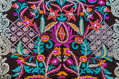 Background with material embroidered from Bistrita-Nasaud, Roman Royalty Free Stock Photography