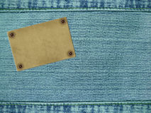 Background - material of jeans of blue color royalty free stock photo