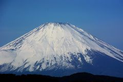 Late autumn of Mount Fuji. Background material/Late autumn of Mount Fuji royalty free stock photos