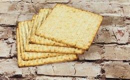 Background. matzoh jewish passover bread Royalty Free Stock Image